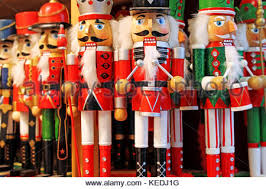traditional nutcrackers for sale at a market in salzburg