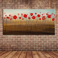 popular canvas flower wall mural painting buy cheap canvas flower modern wall art abstract single red flowers oil paintings canvas art large wall mural posters decoration