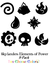 skylanders spyro elements of power 8 pack sticker decal set boys