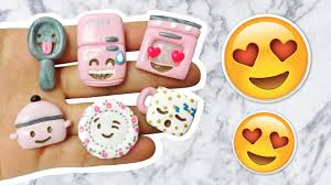 diy emoji kitchen polymer clay tutorial youtube
