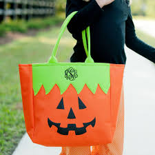 monogrammed jack o lantern halloween tote u2013 southern touch monograms
