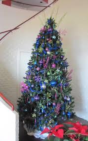 pink and blue christmas tree christmas lights decoration