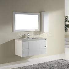 Contemporary Bathroom Cabinets - barros 42 inch contemporary bathroom vanity high gloss white finish