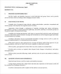 Ramp Agent Job Description Resume by Duties And Responsibilities Insurance Agent Resume Examples