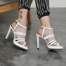 british women pointy toe ankle strap hollow out flat heel sandal