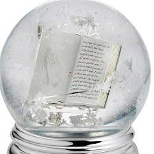 baptism snow globes musical snow globe