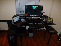 stunning large computer desk with cool gaming computer desk setup