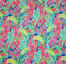 18 x 18 lilly pulitzer fabric casa banana