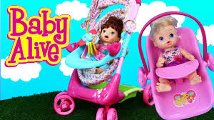 Graco Doll Swing High Chair Baby Alive Stroller U0026 Car Seat Travel System Lucy Doll Outing