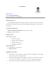 Career Objective For Resume Mechanical Engineer Mechanical Engineer