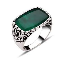 men rings ala silver green aqeeq men ring boutique ottoman jewelry store