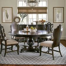 continental 72 inch round dining room set melange art furniture