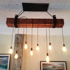 rustic beam light fixture rustic wooden beam industrial chandelier id lights