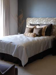 Upholstered Headboard Cheap by Bedroom Upholstered Headboard With Wood Trim To Make Comfortable