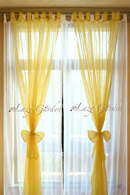 Yellow White Curtains Free Shipping European Style Solid Color Voile Window Curtains