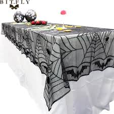240 120cm rectangle lace black spider web halloween tablecloth