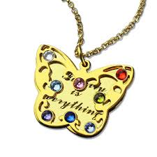 butterfly gold necklace images Special message butterfly necklace gold color personalized jpg