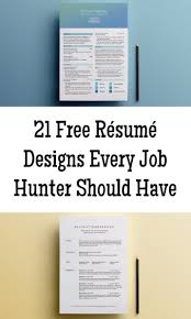 21 free résumé designs every job hunter needs