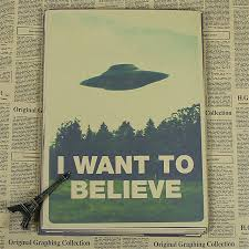 believe home decor retro kraft vintage paper x files i want to believe wall