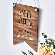 personalized wooden wedding signs personalised wooden wedding sign by