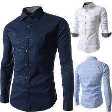 plus size m 4xl leisure man dress shirts long sleeve single