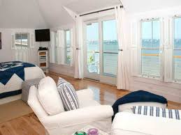 bedroom beautiful sea scenery can be seen by staying in blue and