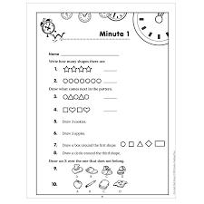 math minutes first grade