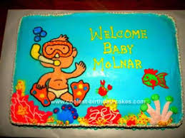 coolest under the sea baby shower cake design