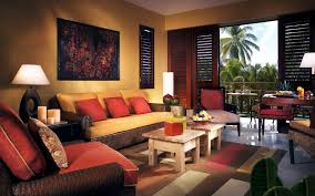 bright red paint for walls red and brown living room ideas dark brown wooden headboard