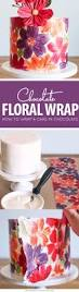 Floral Food by Chocolate Wrapped Cake