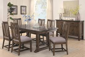 coaster willowbrook seven piece rustic dining set with bluestone