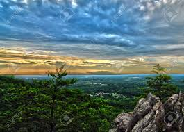North Carolina scenery images Beautiful scenery from crowders mountain in north carolina stock jpg