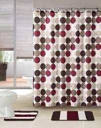 Burgundy Bathroom Rugs 3 Bath Rug Set W Shower Curtain And Matching Rings Grey