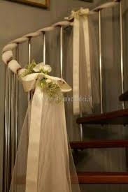 tulle lights and baby u0027s breath staircase decorations stairway