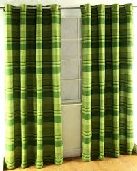 Curtain Pair Cotton Morocco Striped Green Curtain Pair Homescapes