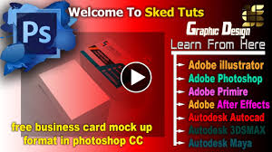 free business card design mock up format in photoshop cc part 03