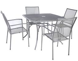 bentley 5 piece garden furniture set metal mesh grey