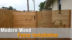 modern wood modern wood fence installation