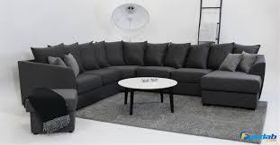 u sofa xxl primus xxl corner sofa with divan pillow dark grey corner