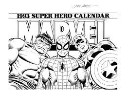 romita sr john joe sinnott signed marvel superhero calendar