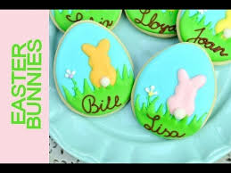 Decorated Easter Bunny Cookies by Easter Table Setting Bunny Cookies Youtube