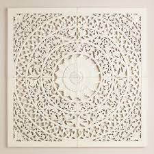 carved in india our white wall plaque makes a grand