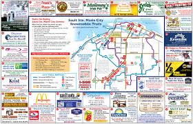 Snowmobile Trail Maps Michigan by Trail Maps Sault Ste Marie Snowmobile Association