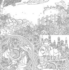Coloring Book For Adults Grown Ups Color Pages Anti Stress Wizard Of Oz Coloring Pages
