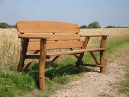 Rustic Oak Bench Memorial Benches Rustic Oak Bench 1700