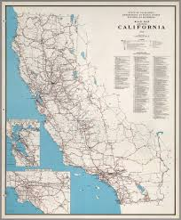 Map Of Calif Road Map Of The State Of California 1958 David Rumsey