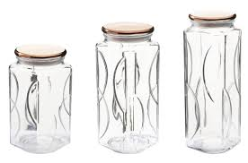 gogreen glassworks 3 piece kitchen canister set jpg