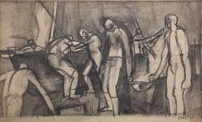 pencil for painting christopher wood 1901 1930 study for painting 1950 pencil on