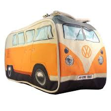 orange volkswagen van the vw campervan washbag mens novelty travel washbag toiletry
