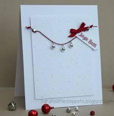 sarah u0027s little snippets jingle bells clean u0026 simple christmas card